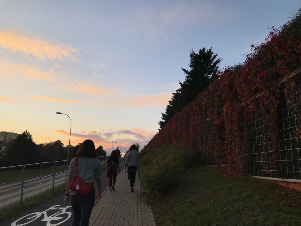 Passeggiando per Rzeszow con gli altri volontari europei